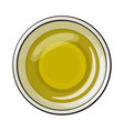 bowl of natural oil massage top view sketch vector image vector image