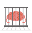 Brain Cage vector image vector image