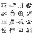 business team management icons set vector image