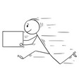 cartoon of man or businessman running fast with vector image
