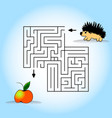 children s picture - help to find a hedgehog apple vector image