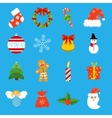 Christmas retro icons elements and vector image vector image