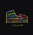 coliseum postcard color vector image vector image