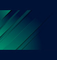 dark green and blue stripes abstract background vector image vector image