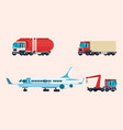 delivery service set of vehicles vector image vector image
