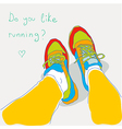 do you like runnuing vector image vector image
