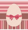 Easter greeting card with dotted egg vector image vector image