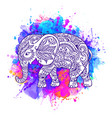 elephant ornate art animal vector image