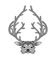 entangle stylized deer hand drawn sketch vector image