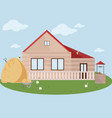 farm facade flat style vector image vector image