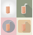food objects flat icons 10 vector image vector image