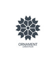 geometric logo or symbol for decoration vector image vector image