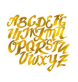 Gold Hand drawn Alphabet Pattern Eps10 dood vector image vector image