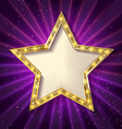 Gold star on a dark background vector image vector image
