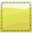 Grape vines frame vector image vector image