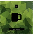Green tea polygonal background vector image vector image