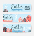 horizontal easter sale vector image