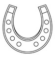 horseshoe icon outline vector image vector image