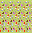 ice cream cones pattern seamless color of vector image vector image