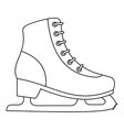 Ice skate icon outline style vector image
