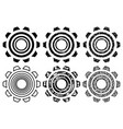 icon gearwheel set vector image
