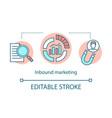 inbound marketing concept icon digital marketing vector image vector image