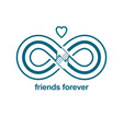 infinite friendship friends forever special vector image vector image