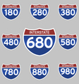 INTERSTATE SIGNS 180-980 vector image vector image