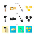 isolated object of story and items icon set of vector image