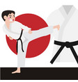 karate athletic sport cartoon set vector image vector image
