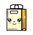 kawaii cute happy shopping bag vector image