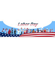 labor day people group different occupation set vector image vector image