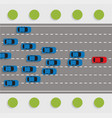 Leadership concept with car road rally