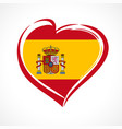 love spain flag emblem vector image