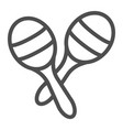 maracas line icon music and mexican instrument vector image vector image