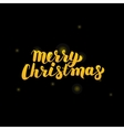 Merry Christmas Gold Lettering over Black vector image vector image