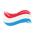 national flag of luxembourg designed using brush vector image vector image