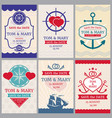 nautical congratulations backgrounds vector image vector image