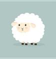 nice cartoon sheep isolated vector image
