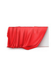 object covered with red silk cloth vector image vector image