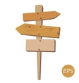 Old wooden signpost vector image vector image