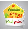 One big autumn sale labele vector image