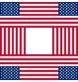 Patriotic USA background with american flags vector image vector image