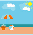poster banner beach rest on the sand with umbrella vector image vector image