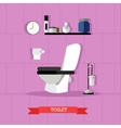 poster with bathroom furniture toilet and vector image