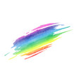 rainbow texture isolated white background vector image vector image