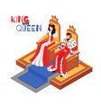 royal couple isometric composition vector image vector image