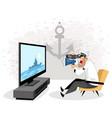 sailor watching tv vector image vector image