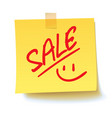 sale on the sticker realistic vector image vector image