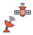 satellite and satellite dish vector image